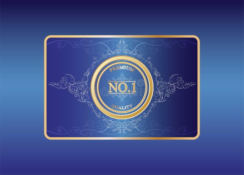 Το ασφάλιστρο κανένα 1 ποιοτικό λογότυπο μπορεί να χρησιμοποιήσει όπως ένα β Ι κάρτα π για να εγγυηθεί το προϊόν στοκ εικόνες με δικαίωμα ελεύθερης χρήσης