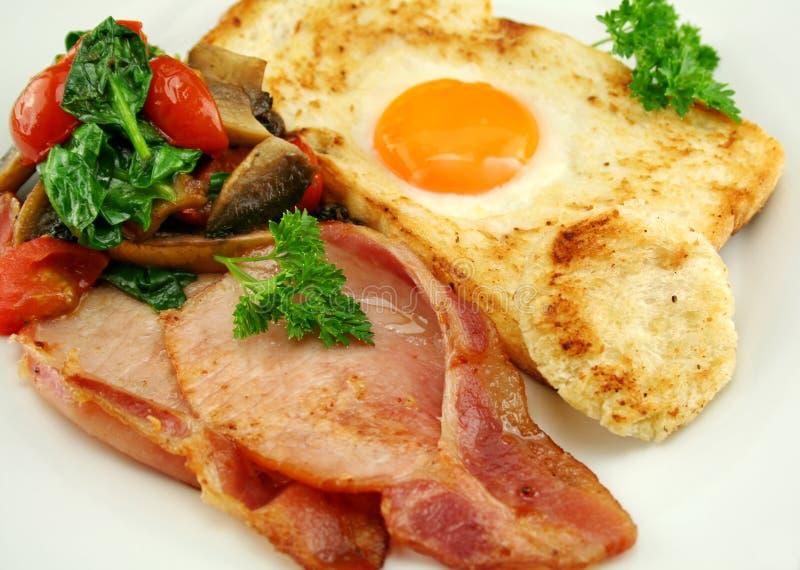 το αυγό ενσωμάτωσε τη φρ&upsilon στοκ εικόνες