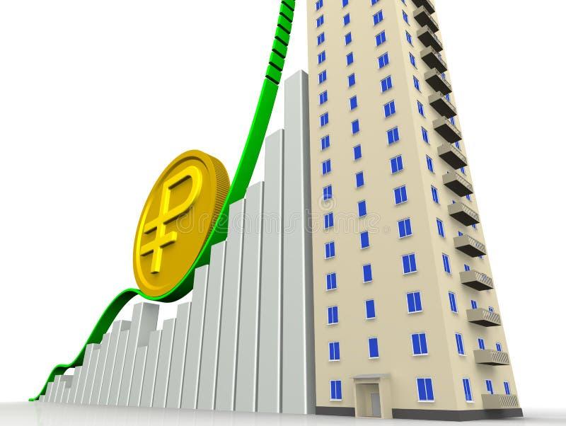 Το αυξανόμενο κόστος των διαμερισμάτων διανυσματική απεικόνιση
