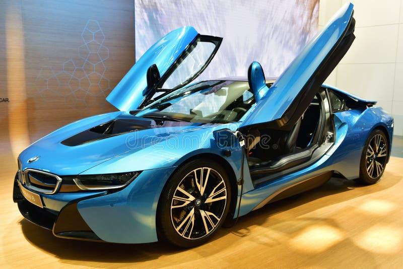 Το αυτοκίνητο της BMW i8 στοκ φωτογραφίες