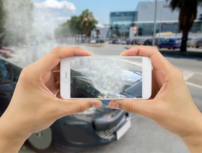 Το αυτοκίνητό μου μετά από το ατύχημα στοκ φωτογραφία με δικαίωμα ελεύθερης χρήσης