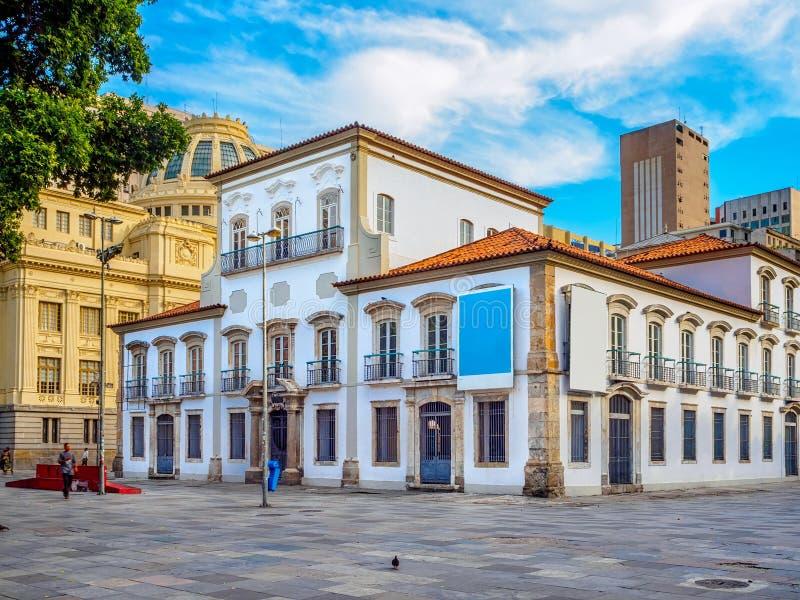 Το αυτοκρατορικό αυτοκρατορικό παλάτι Paco γνωστό προηγουμένως ως Royal Palace του Ρίο ντε Τζανέιρο στοκ εικόνες