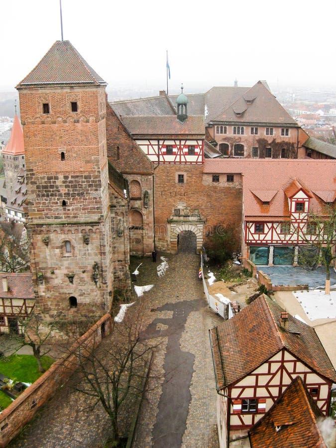 Το αυτοκρατορικό Castle της Νυρεμβέργης στο wintertime στοκ εικόνα