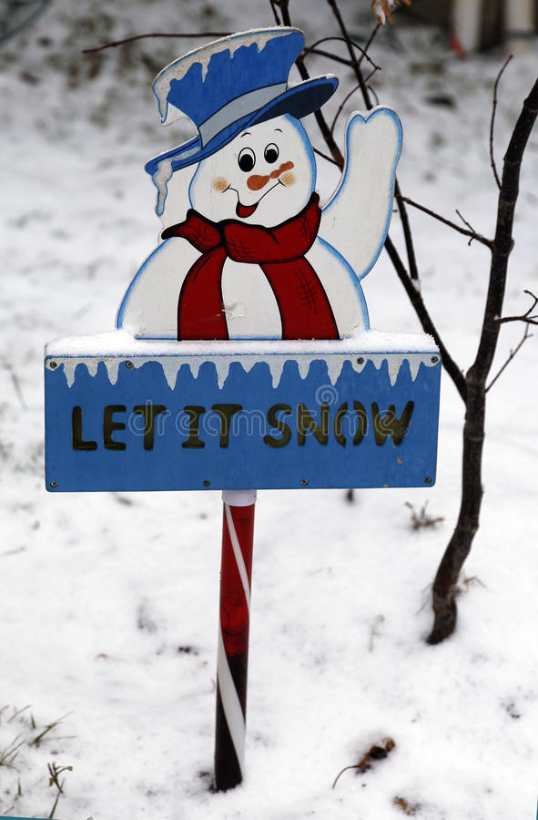 Το αφήστε να χιονίσει σημάδι στοκ εικόνα με δικαίωμα ελεύθερης χρήσης