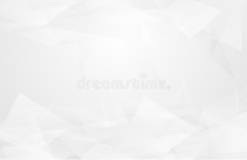 Το αφηρημένο άσπρο εσωτερικό δίνει έμφαση στο μέλλον γκρίζο υπόβαθρο, υπόβαθρο Lowpoly με το αντίγραφο-διάστημα Σύγχρονο backgro  απεικόνιση αποθεμάτων