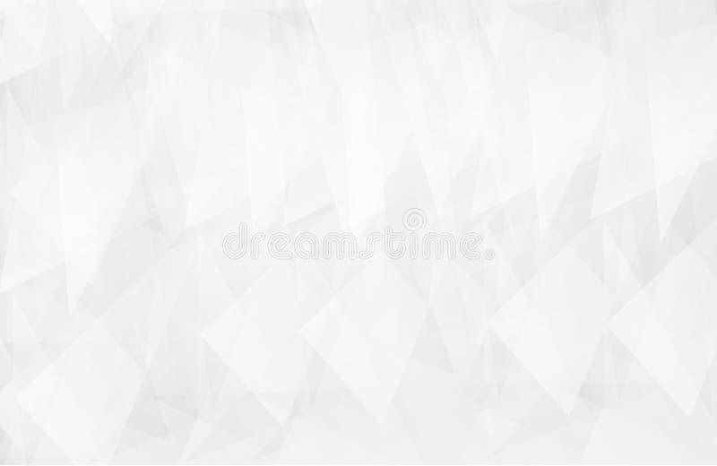 Το αφηρημένο άσπρο εσωτερικό δίνει έμφαση στο μέλλον γκρίζο υπόβαθρο, υπόβαθρο Lowpoly με το αντίγραφο-διάστημα Σύγχρονο backgro  διανυσματική απεικόνιση