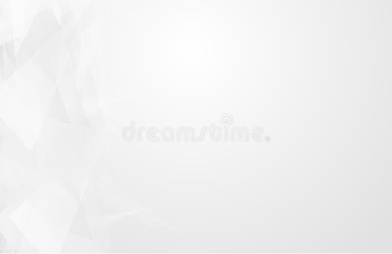 Το αφηρημένο άσπρο εσωτερικό δίνει έμφαση στο μέλλον γκρίζο υπόβαθρο, υπόβαθρο Lowpoly με το αντίγραφο-διάστημα Σύγχρονο backgro  ελεύθερη απεικόνιση δικαιώματος