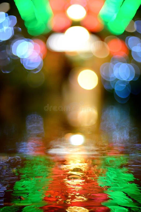 Το αφηρημένο αστικό φως νύχτας bokeh, το υπόβαθρο στοκ φωτογραφίες με δικαίωμα ελεύθερης χρήσης