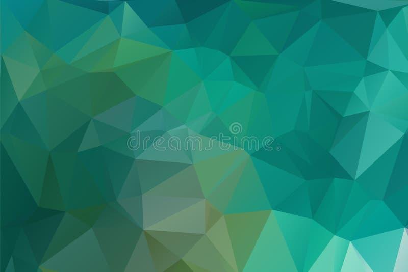 Το αφηρημένο βεραμάν γεωμετρικό υπόβαθρο, αποτελείται από τα τρίγωνα Polygonal οριζόντιο υπόβαθρο απεικόνιση αποθεμάτων