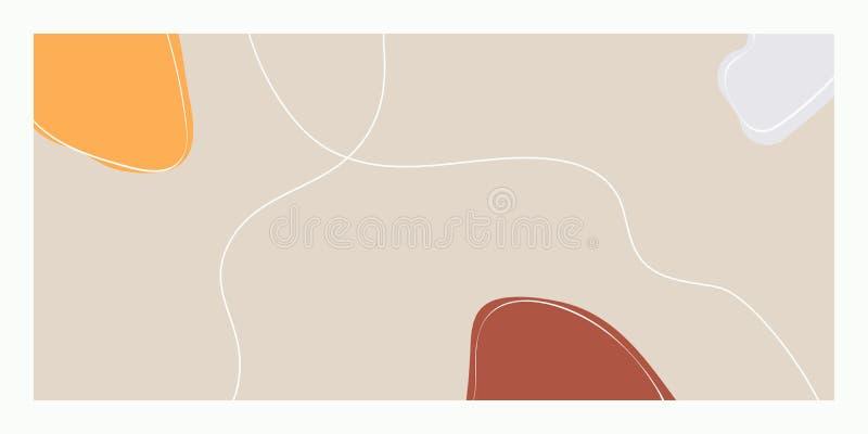 Το αφηρημένο γραφικό υπόβαθρο τέχνης καθιερώνον τη μόδα για τα χαρτικά, γαμήλιες κάρτες, που διαφημίζουν, τυπώνει τις αφίσες, τέχ απεικόνιση αποθεμάτων