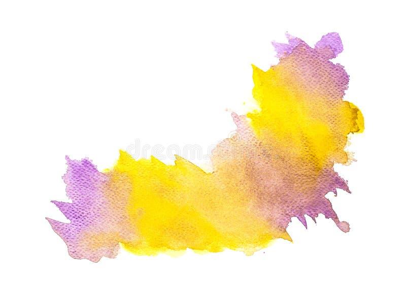 Το αφηρημένο ζωηρόχρωμο watercolor στο άσπρο υπόβαθρο, ζωηρόχρωμο ράντισμα watercolor σε χαρτί, αφαιρεί το χρωματισμένο σχέδιο απ διανυσματική απεικόνιση