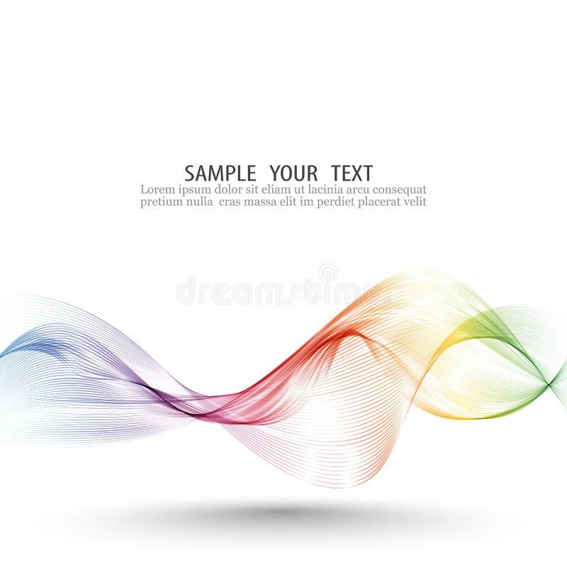 Το αφηρημένο διανυσματικό υπόβαθρο κυμάτων, ουράνιο τόξο κυμάτισε τις γραμμές για το φυλλάδιο, ιστοχώρος, σχέδιο ιπτάμενων Χρώμα  ελεύθερη απεικόνιση δικαιώματος