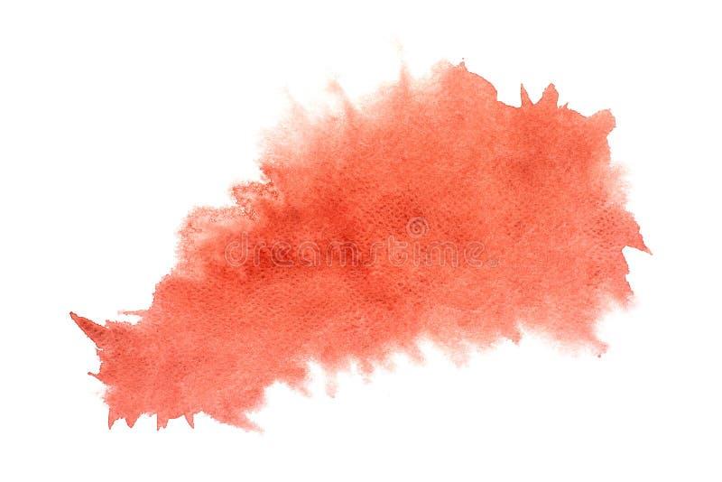 Το αφηρημένο κόκκινο watercolor στο άσπρο υπόβαθρο, κόκκινο ράντισμα watercolor σε χαρτί, αφαιρεί το χρωματισμένο σχέδιο απεικόνι ελεύθερη απεικόνιση δικαιώματος