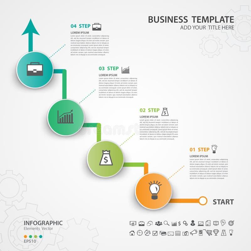 Το αφηρημένο πρότυπο επιλογών αριθμού infographics, διανυσματική απεικόνιση, παρουσίαση, εικονίδιο Ιστού, επιχείρηση εταιρική, δι διανυσματική απεικόνιση