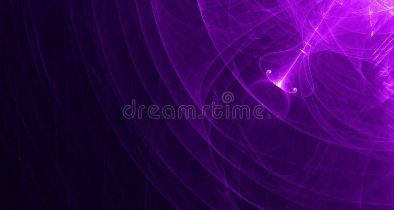 Το αφηρημένο ρόδινο και πορφυρό φως καίγεται, ακτίνες, μορφές στο σκοτεινό υπόβαθρο στοκ φωτογραφία με δικαίωμα ελεύθερης χρήσης