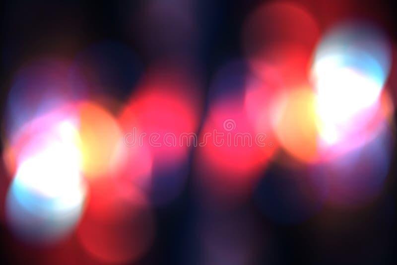 Το αφηρημένο στοιχείο υποβάθρου bokeh θαμπάδων για την επικάλυψη, ζωηρόχρωμη το φως στοκ εικόνες