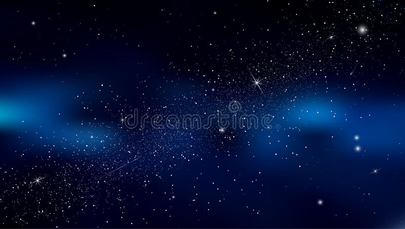 Το αφηρημένο υπόβαθρο είναι ένα διάστημα με το νεφέλωμα αστεριών διάνυσμα διανυσματική απεικόνιση