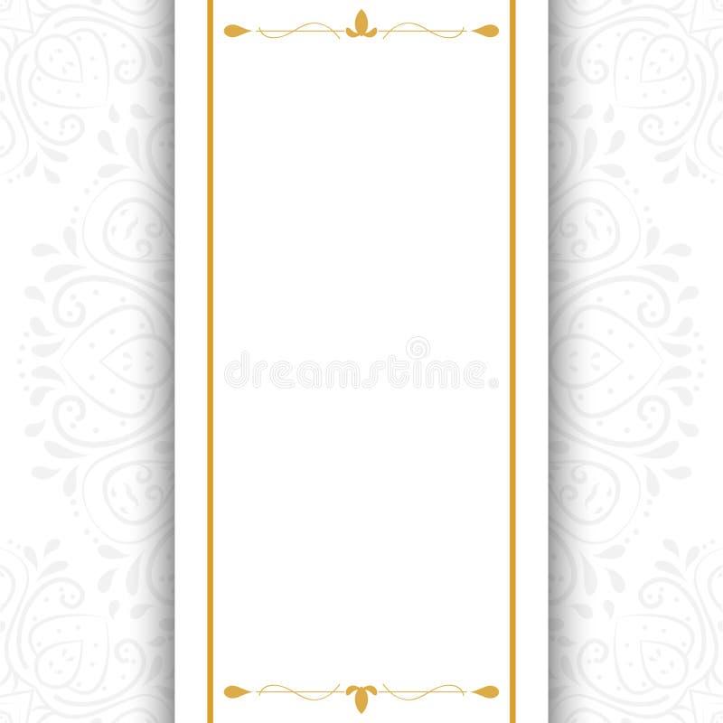 Το αφηρημένο υπόβαθρο πολυτέλειας, διακοσμεί τον κομψό γάμο πρόσκλησης διανυσματική απεικόνιση