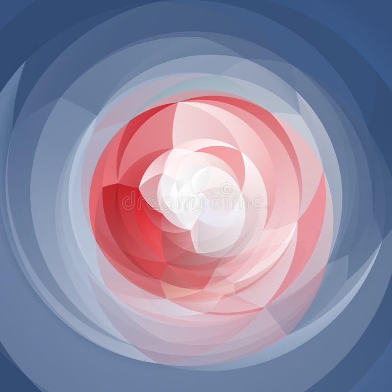 Το αφηρημένο υπόβαθρο στροβίλου - κρητιδογραφία που χρωματίζεται - οδοντώνει, κόκκινο, άσπρα και μπλε χρώματα ελεύθερη απεικόνιση δικαιώματος