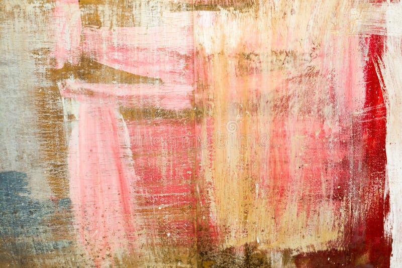 Το αφηρημένο υπόβαθρο χρώματος δημιούργησε με τα ελαιοχρώματα σε μια ξύλινη βάση, περίληψη τέχνης στοκ φωτογραφίες με δικαίωμα ελεύθερης χρήσης