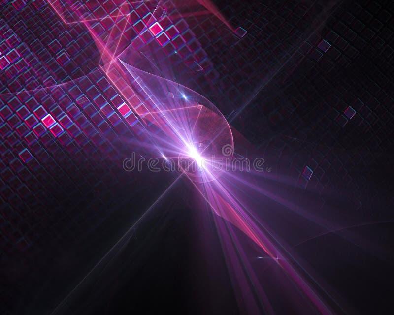 Το αφηρημένο ψηφιακό fractal σχέδιο προτύπων φαντασίας διακοσμητικό δίνει, κίνηση, στρόβιλος ελεύθερη απεικόνιση δικαιώματος