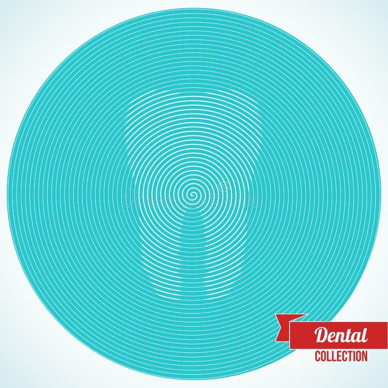 Το αφηρημένο δόντι αποτέλεσε από τη σπείρα ελεύθερη απεικόνιση δικαιώματος