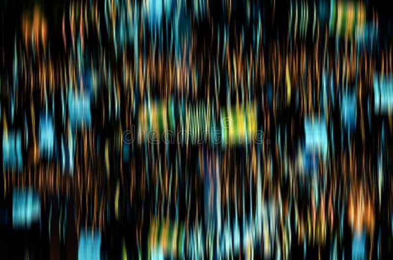Το αφηρημένο defocus της ζωηρόχρωμης ακτινοβολίας λάμπει βολβοί ανάβει backg στοκ φωτογραφία