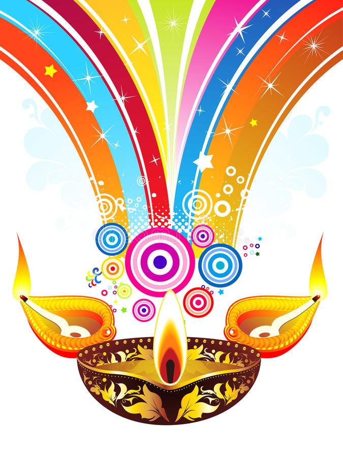 Το αφηρημένο diwali εκρήγνυται το υπόβαθρο απεικόνιση αποθεμάτων