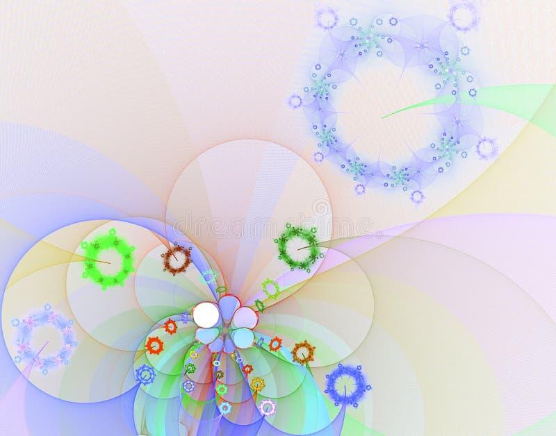 το αφηρημένο fractal χρώματος κεντρικών πηνίων αρχικό ουράνιο τόξο εικόνας αποχρώσεων ισχυρό κτυπά ελεύθερη απεικόνιση δικαιώματος