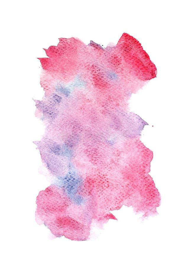 Το αφηρημένο watercolor στο άσπρο υπόβαθρο, ράντισμα Watercolor σε χαρτί, αφαιρεί τη χρωματισμένη διακόσμηση σχεδίου απεικόνισης διανυσματική απεικόνιση