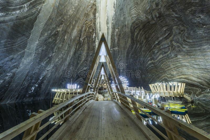 Το αλατισμένο ορυχείο Turda στη Ρουμανία στοκ φωτογραφίες