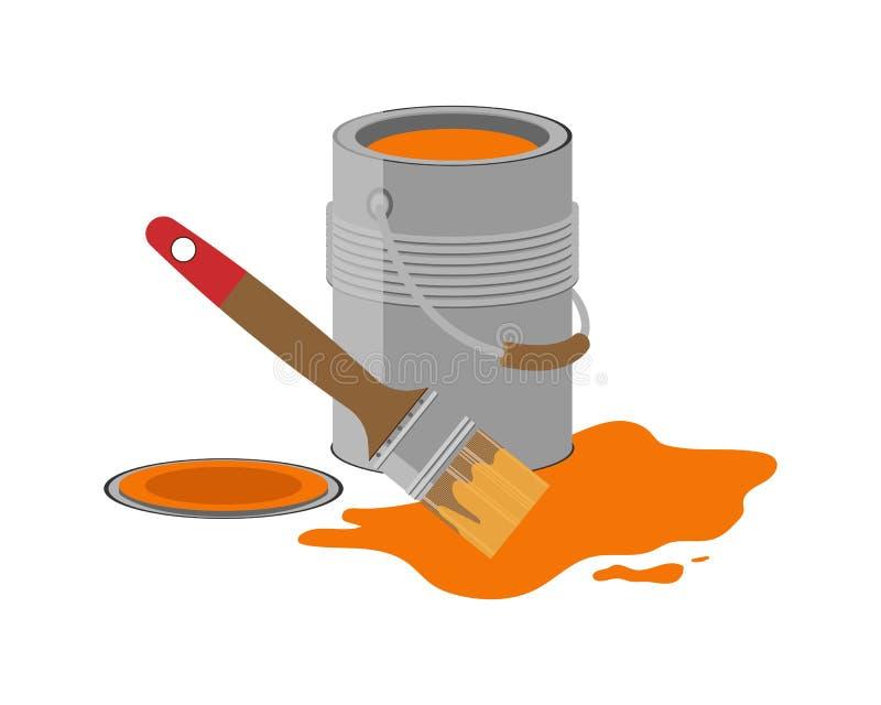 Το Α μπορεί πορτοκαλιού να χρωματίσει brunhilda Χρώμα ελεύθερη απεικόνιση δικαιώματος