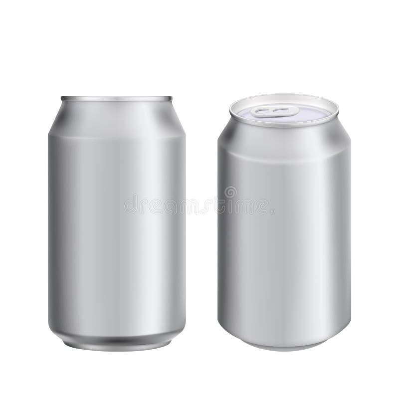 Το αλουμίνιο μπορεί να πιει soad ή πρότυπο μπύρας στοκ εικόνες με δικαίωμα ελεύθερης χρήσης