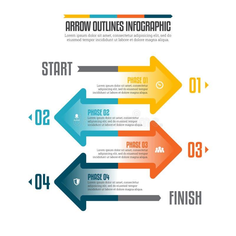Το βέλος περιγράφει Infographic απεικόνιση αποθεμάτων