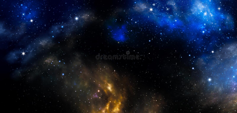 Το βαθύ διάστημα, αφαιρεί το μπλε υπόβαθρο διανυσματική απεικόνιση