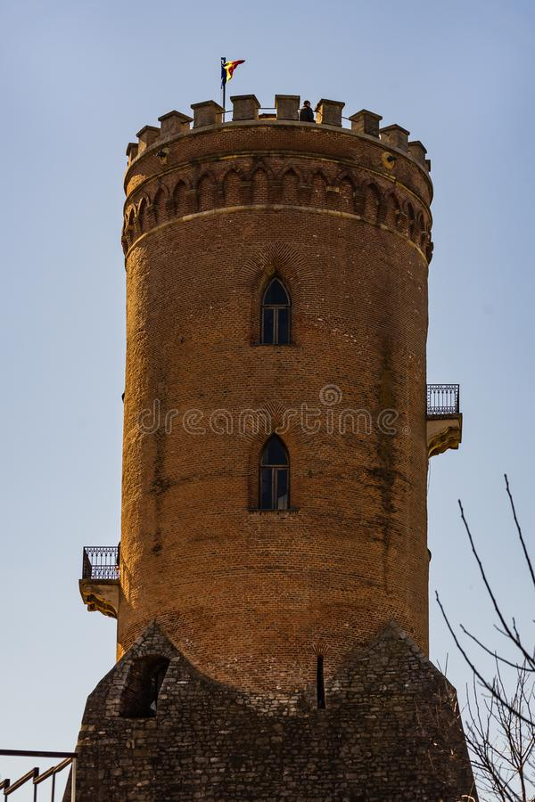 Το βασιλικοί δικαστήριο και ο πύργος Chindia σε Targoviste, Ρουμανία στοκ εικόνες