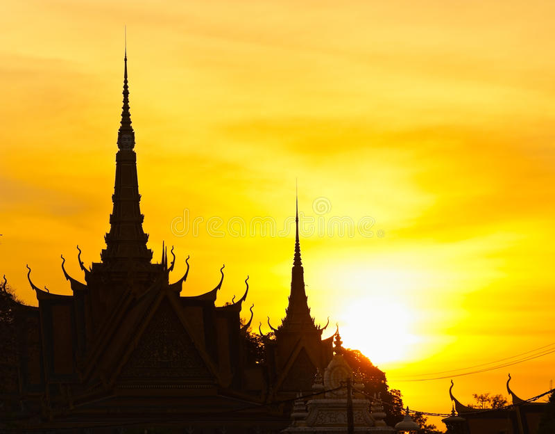 Το βασιλικό παλάτι, Καμπότζη. στοκ εικόνα με δικαίωμα ελεύθερης χρήσης
