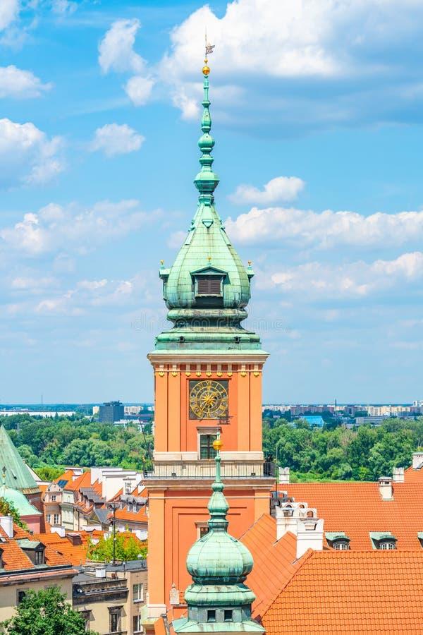 Το βασιλικό Castle στην παλαιά πόλη, Βαρσοβία, Πολωνία στοκ εικόνες με δικαίωμα ελεύθερης χρήσης