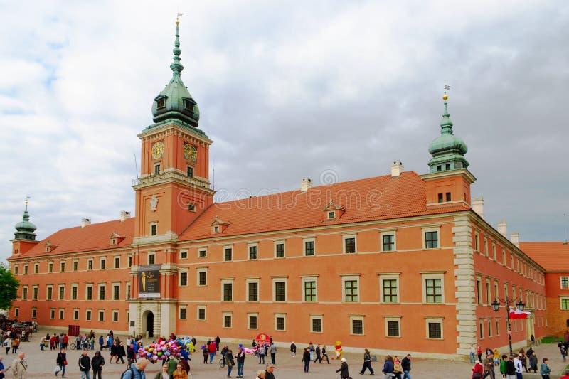 Το βασιλικό Castle στη Βαρσοβία, Πολωνία στοκ εικόνα