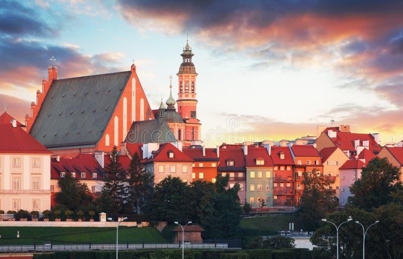 Το βασιλικό Castle στη Βαρσοβία - Arcades Παλαιά πόλη στη Βαρσοβία/την Πολωνία στοκ φωτογραφίες με δικαίωμα ελεύθερης χρήσης