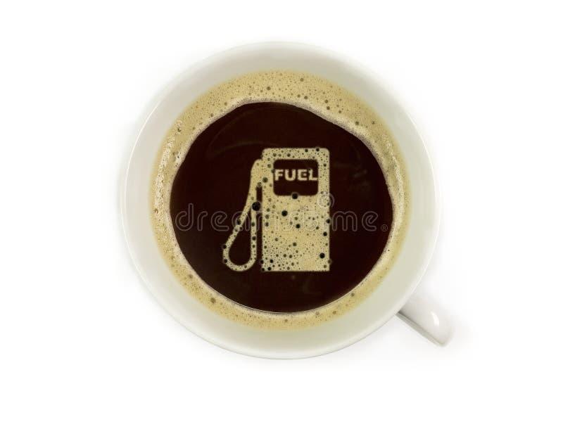 Το βενζινάδικο προσφέρει τον καφέ στοκ εικόνες με δικαίωμα ελεύθερης χρήσης