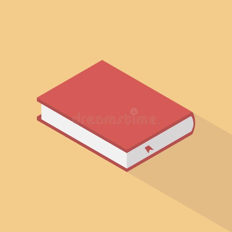 Το βιβλίο είναι κόκκινο σε ένα κίτρινο υπόβαθρο ελεύθερη απεικόνιση δικαιώματος