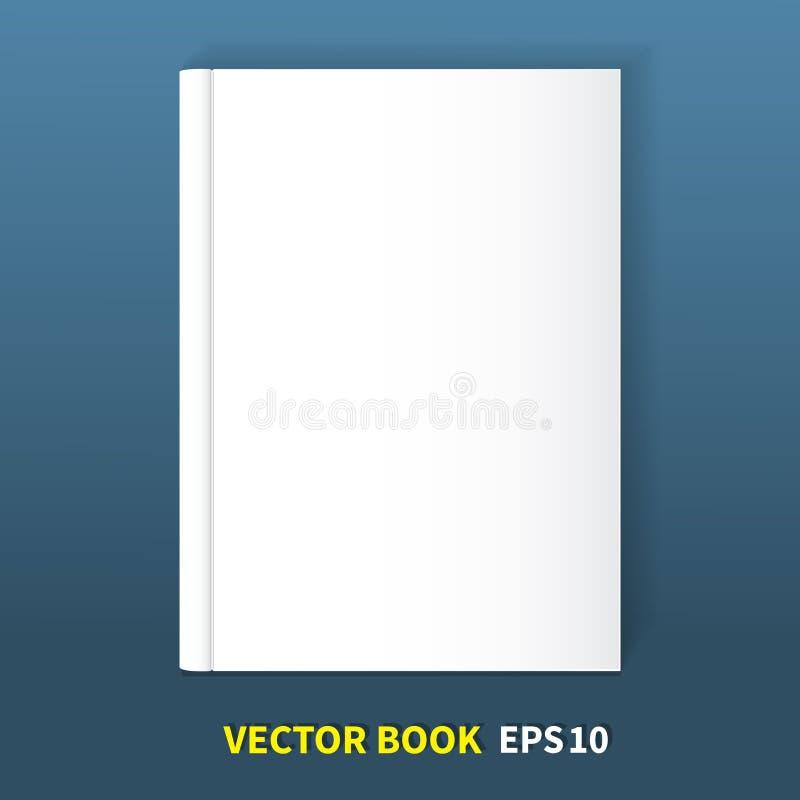 Το βιβλίο είναι στο hardcover διανυσματική απεικόνιση