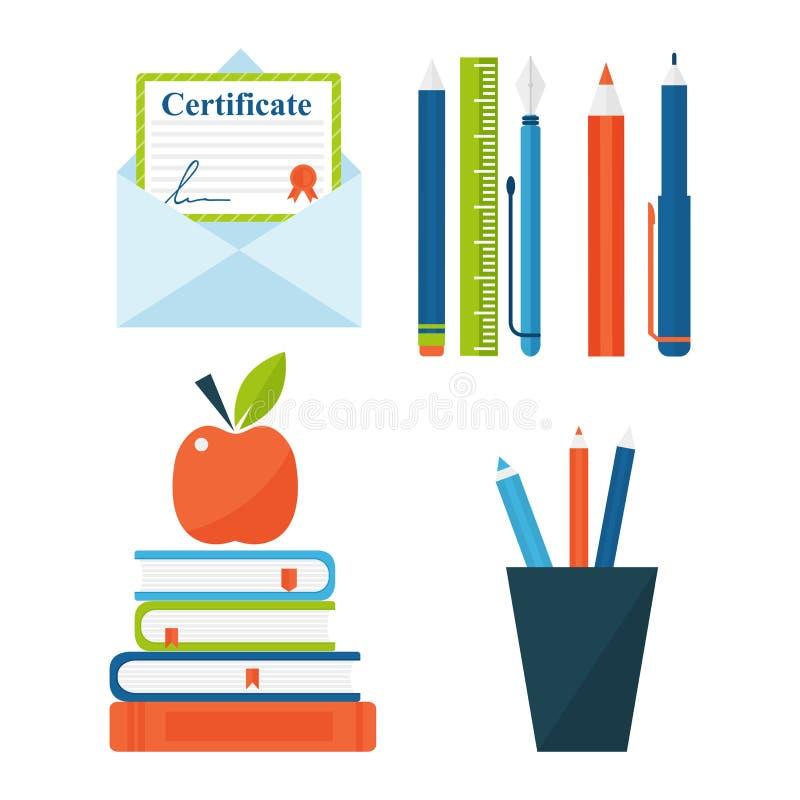 Το βιβλίο μαθαίνει τη μελέτη λογοτεχνίας που ανοίγουν και κλειστή διανυσματική απεικόνιση εγχειριδίων εγγράφων γνώσης εκπαίδευσης απεικόνιση αποθεμάτων