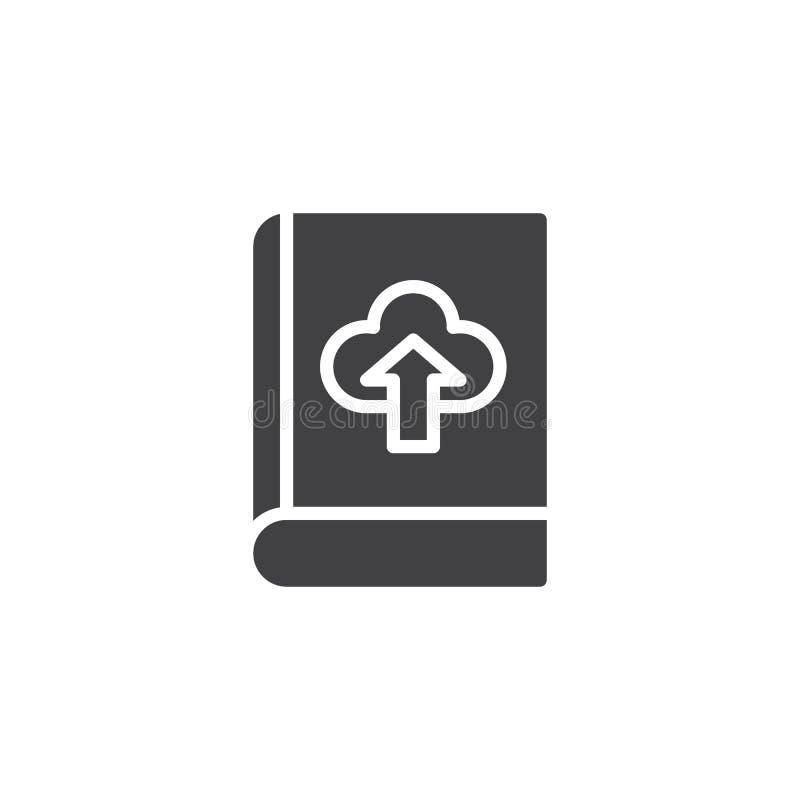 Το βιβλίο μεταφορτώνει το διανυσματικό εικονίδιο σύννεφων απεικόνιση αποθεμάτων