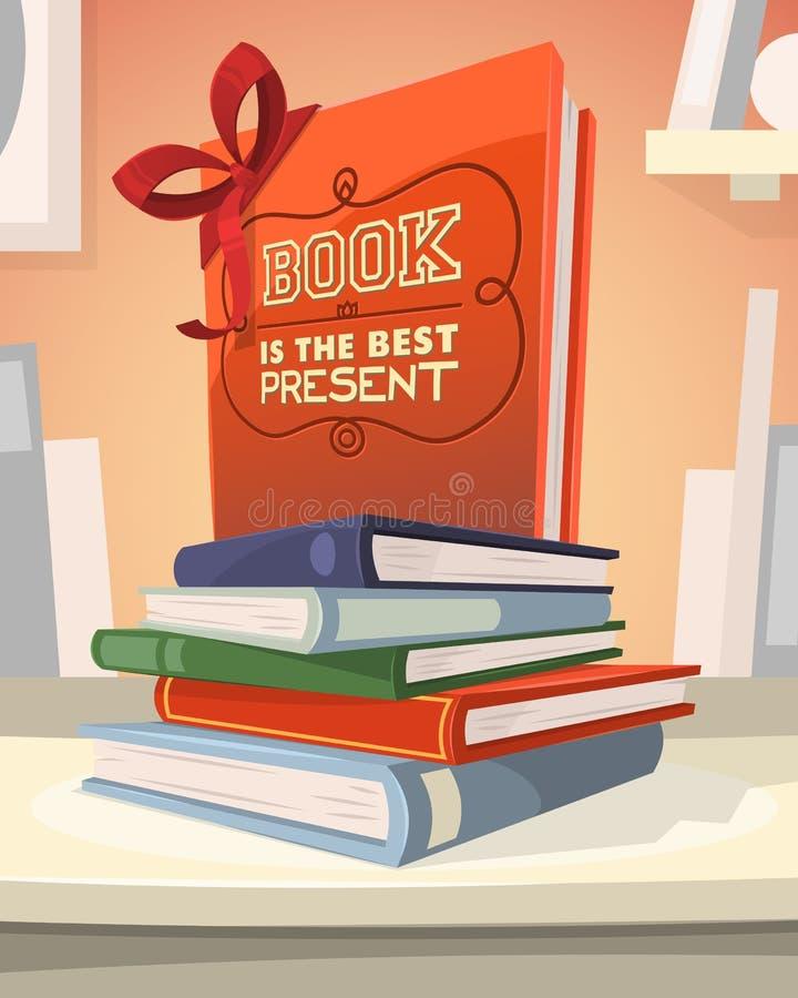 Το βιβλίο είναι το καλύτερο παρόν διανυσματική απεικόνιση
