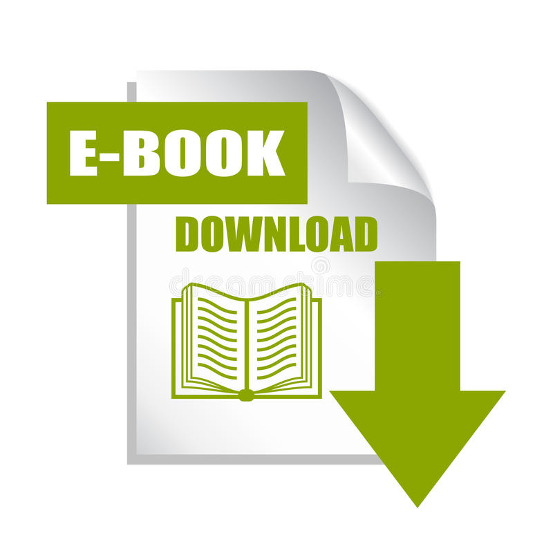 Το βιβλίο μεταφορτώνει το εικονίδιο ελεύθερη απεικόνιση δικαιώματος