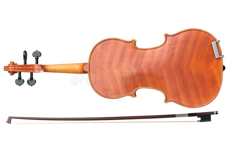 Το βιολί το όργανο, κατώτατη άποψη απεικόνιση αποθεμάτων