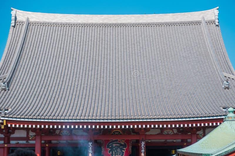 """Το βουδιστικό όνομα """"Sensoji """"ναών στην περιοχή Asakusa στο Τόκιο, Ιαπωνία στοκ φωτογραφία"""
