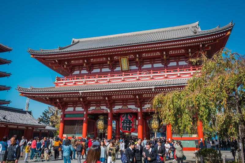 """Το βουδιστικό όνομα """"Sensoji """"ναών στην περιοχή Asakusa στο Τόκιο, Ιαπωνία στοκ φωτογραφίες με δικαίωμα ελεύθερης χρήσης"""